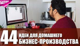 44 идеи для бизнес-производства на дому