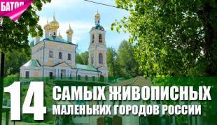 самые живописные маленькие города России