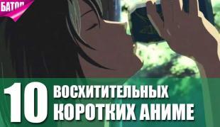 10 лучших короткометражных аниме