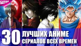 30 лучших аниме-сериалов всех времен
