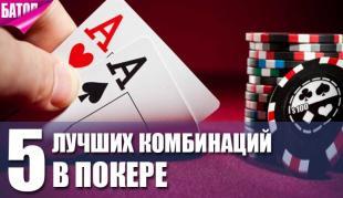 лучшие комбинации в покере