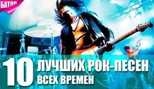 лучшие рок-песни в мире