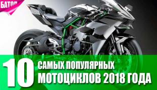 Топ мотоциклов на 2018 год