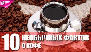 удивительные факты о кофе