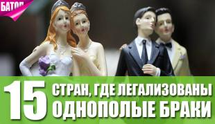страны где легализованы однополые браки