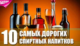 самые дорогие спиртные напитки