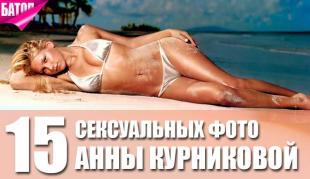 самые сексуальные фотографии Анны Курниковой