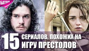 увлекательные сериалы похожие на игру престолов