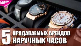 Топ 5 продаваемых брендов наручных часов