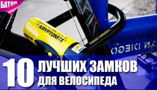 лучшие замки для велосипеда