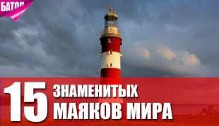 знаменитые маяки мира
