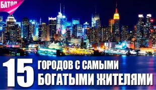 15 городов мира с самыми богатыми жителями