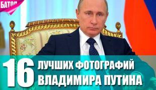 лучшие фотографии Владимира Путина
