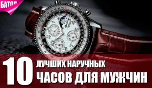 лучшие наручные часы для мужчин