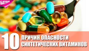 причины опасности синтетических витаминов