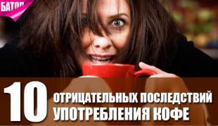 отрицательные последствия употребления кофе