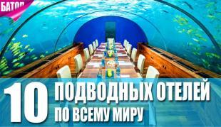 самые впечатляющие подводные отели мира