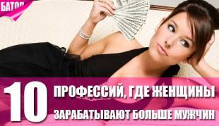 Профессии, в которых женщины зарабатывают намного больше мужчин