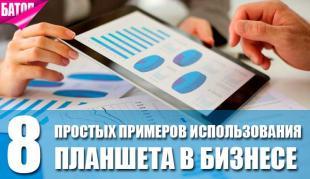 простые примеры использования планшета в бизнесе