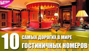 самые дорогие гостиничные номера в мире (цены, описания)