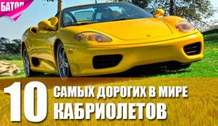 Самые дорогие кабриолеты в мире
