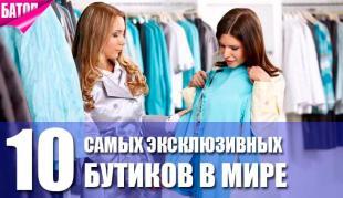 самые эксклюзивные бутики в мире