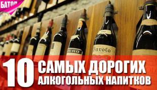 Самые дорогие алкогольные напитки на планете
