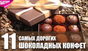 самые дорогие шоколадные конфеты