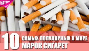 самые популярные марки сигарет