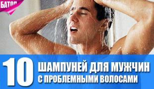 лучшие шампуни для мужчин с проблемными волосами