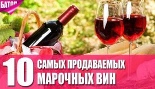 самые продаваемые марочные вина