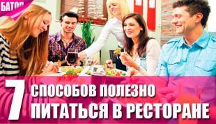 способы здорового питания в ресторанах
